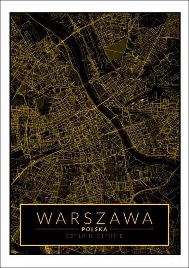 Plakat mapa jako świetny patent na dekorację mieszkania